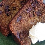 Vegan Carob Chip Banana Bread