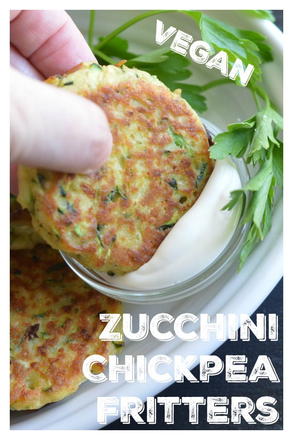 Zucchini Chickpea Fritters Pinterest Pic