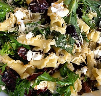 Campanelle with Mixed Greens and Goat Cheese