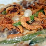 Vegan Green Bean and Pearl Onion Casserole