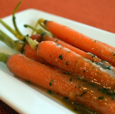 Maple Mustard Glazed Carrots