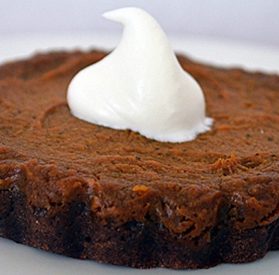 Chocolate Pumpkin Tart {VEGAN}