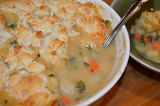 Root Vegetable Pot Pie with Biscuit Topping {Vegan} - TheVegLife