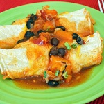 Butternut Squash and Black Bean Enchiladas {Vegan}