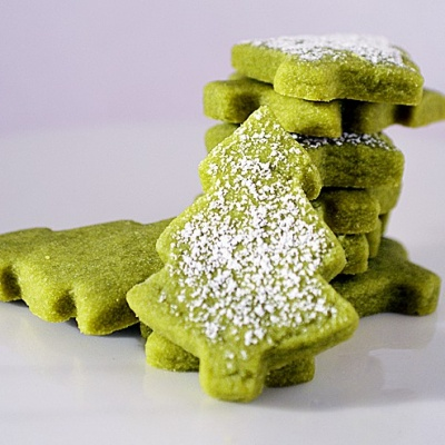 Green Tea Shortbread Cookies {Vegan}