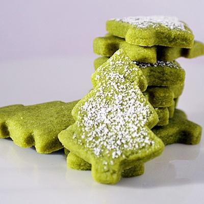 Green Tea Shortbread Cookies {Vegan}