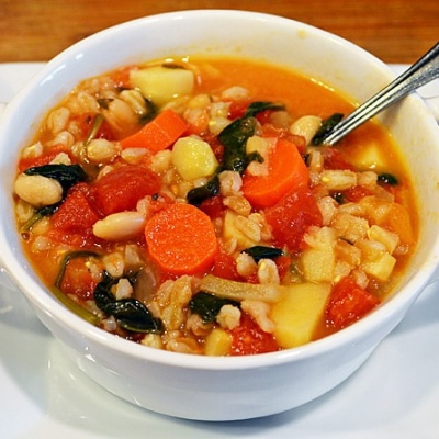 Vegan Italian Farro Soup