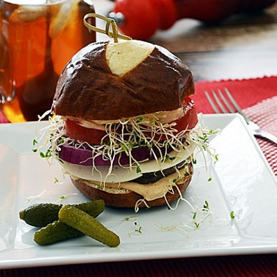 Baby Portabella Burger {Vegan}