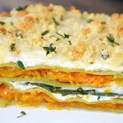 Butternut Squash and Spinach Lasagna {Vegan}