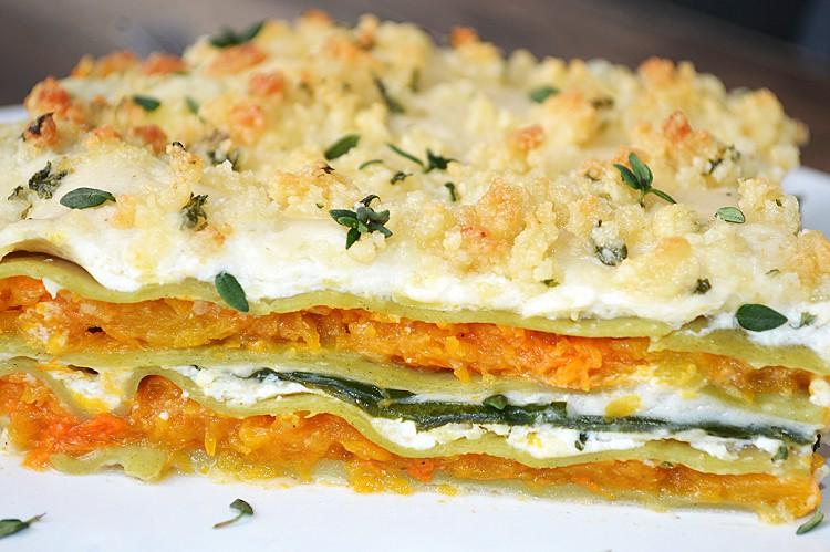 Butternut Squash and Spinach Lasagna {Vegan} - TheVegLife