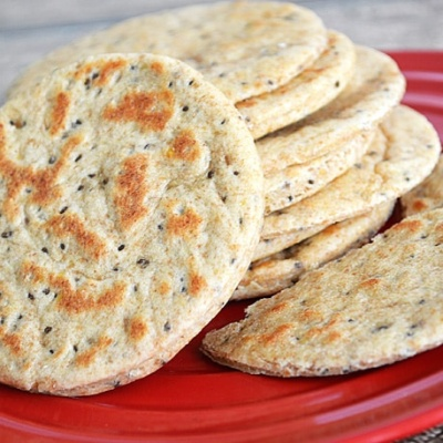Chia and Flax Seed Flatbread {Vegan}