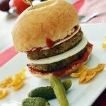 Eggplant Parmesan Burger {Vegan}