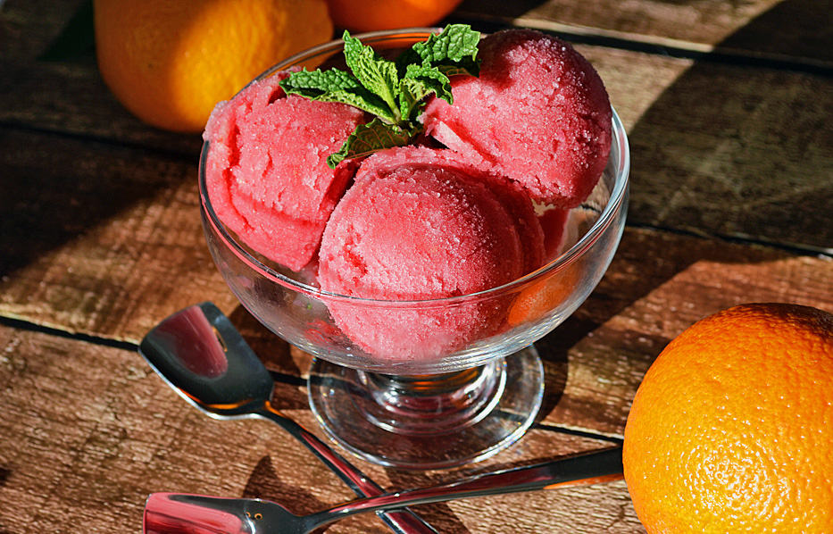 blood orange sherbet