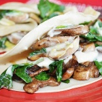 Spinach and Mushroom Crepes {Vegan}