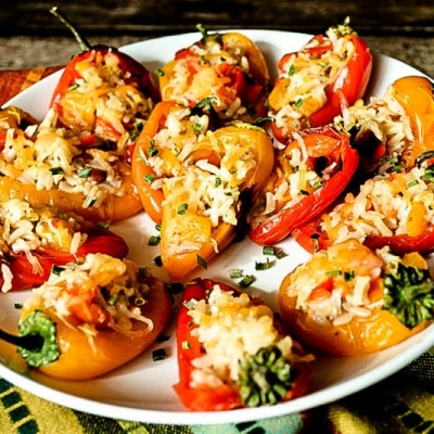 Rice Stuffed Mini Peppers {Vegan}