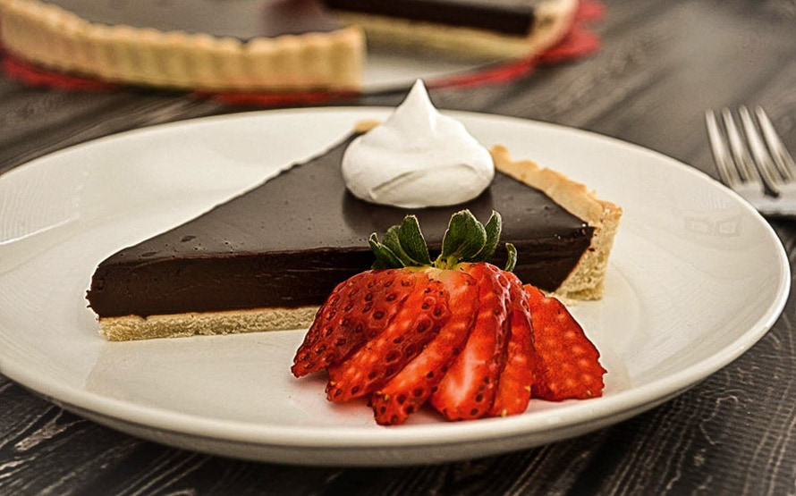 Just in time for Valentine's Day, this decadent chocolate ganache tart ...