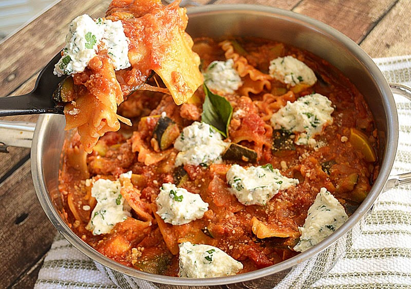 Vegetable Skillet Lasagna-5