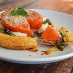 Tomato, Spinach and Ricotta Tart {Vegan}