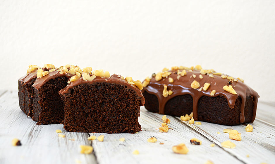 vegan chocolate tofu pound cake