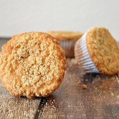 Butter Crumb Coffee Cake Muffins (Vegan}