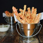 Baked Carrot Fries with Vegan Ranch Dressing