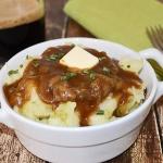 Basic Irish Colcannon {Mashed Potatos & Cabbage} with Stout Gravy
