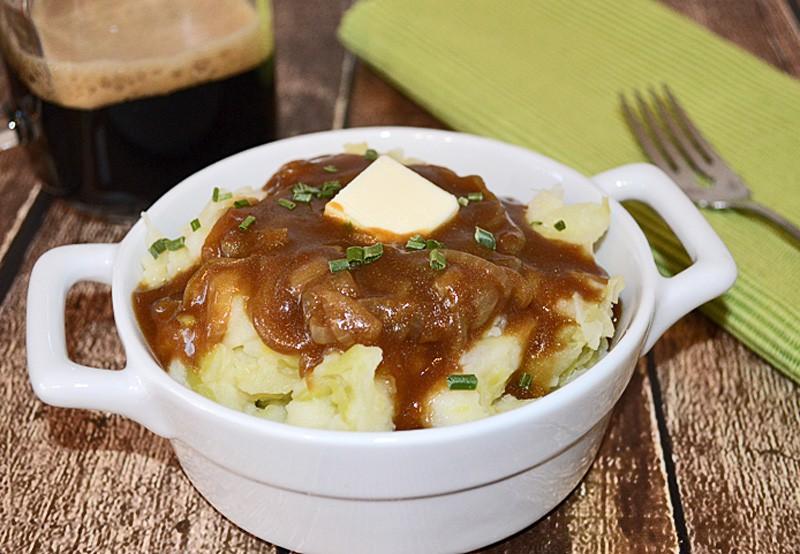 colcannon with stout gravy