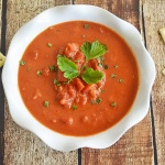 Homestyle Chunky Cream of Tomato Soup {Vegan}