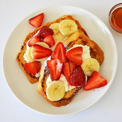 Strawberries and Cream Cheese French Toast