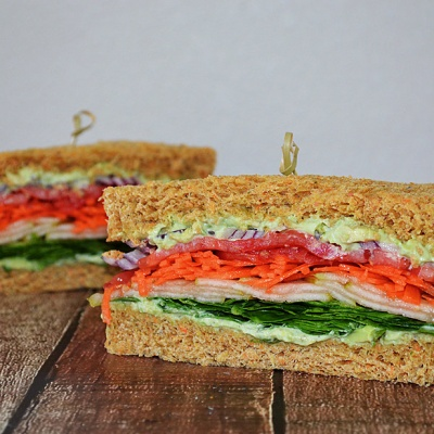Veggie Club Sandwich