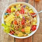 Spaghetti Corn Salsa {Vegan}