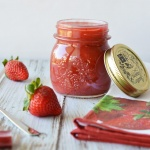 Strawberry Rhubarb Jam {Vegan}