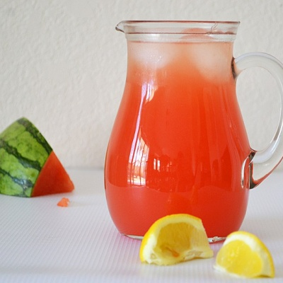 Sweet Pink Watermelon Lemonade