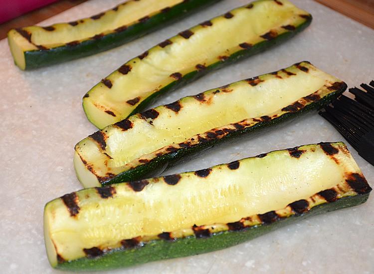Grill the zucchini