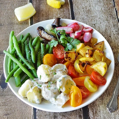 Roasted Vegetable Salad Plate