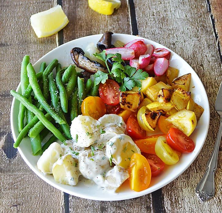 Roasted Vegetable Salad Plate