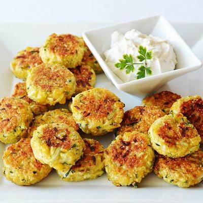 Zucchini Corn Cakes {Vegan}