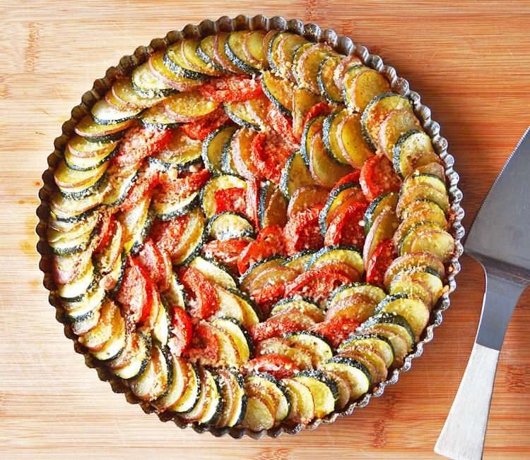 Zucchini Potato & Tomato Casserole