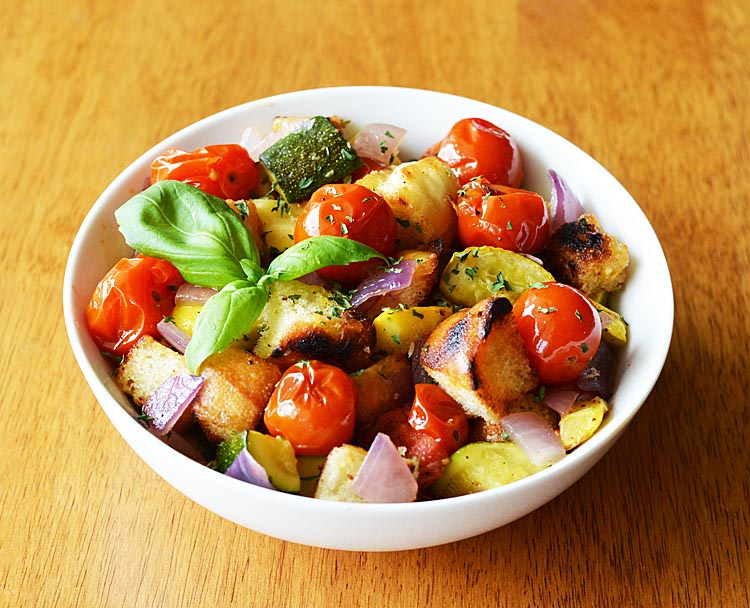 Roasted Ratatouille Panzanella