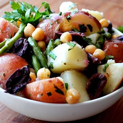Nicoise Style Potato Salad {Vegan}
