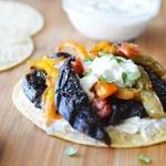 Portobello Taco with Cucumber Dressing