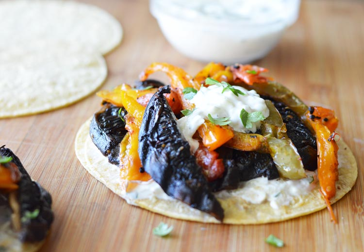 Portobello Taco with Cucumber Dressing