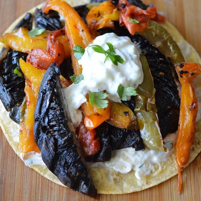Portobello Tacos with Cucumber Ranch Dressing {Vegan}
