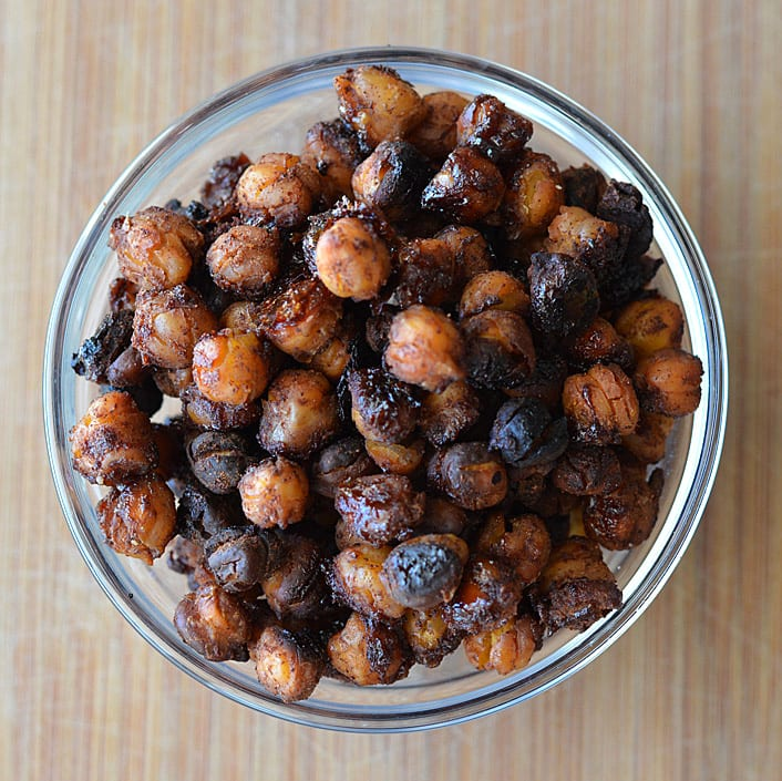 Spiced Candied Chickpeas