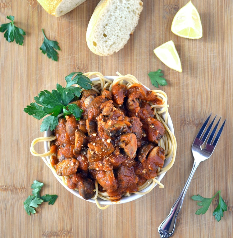 Portobello Mushroom Marinara Sauce - TheVegLife