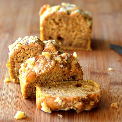 Pumpkin Banana Nut Bread {Vegan}