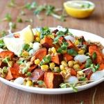 Roasted Sweet Potato and Farro Salad