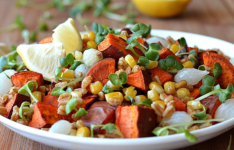 Roasted Sweet Potato and Farro Salad