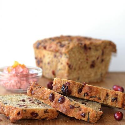 Cranberry Wild Rice Bread {Vegan}
