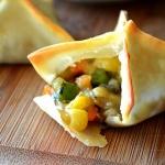Baked Vegetable Pot Pie Wontons